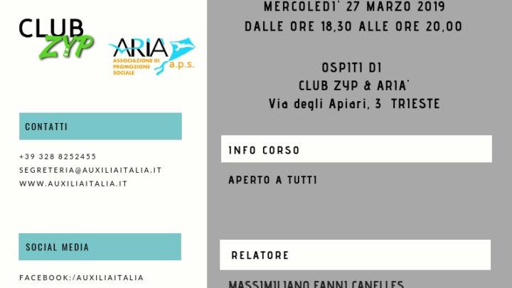 Incontri con il pubblico: Massimiliano Fanni Canelles